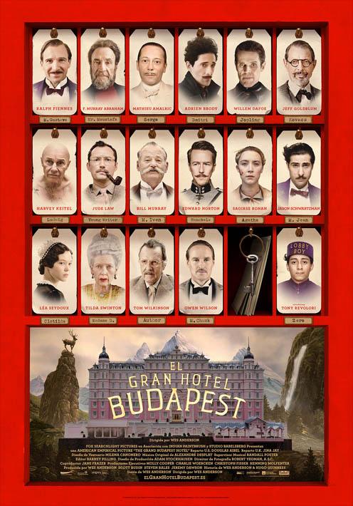 El Gran Hotel Budapest_Póster Oficial